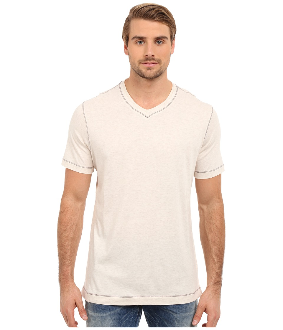 Robert Graham - Nomads Short Sleeve Knit T-Shirt (Heather White) Men's Short Sleeve Pullover