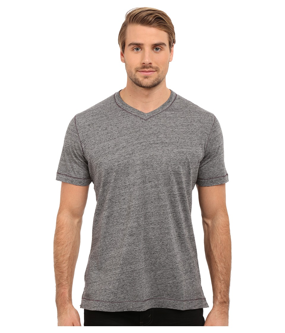 Robert Graham - Nomads Short Sleeve Knit T-Shirt (Heather Black) Men's Short Sleeve Pullover