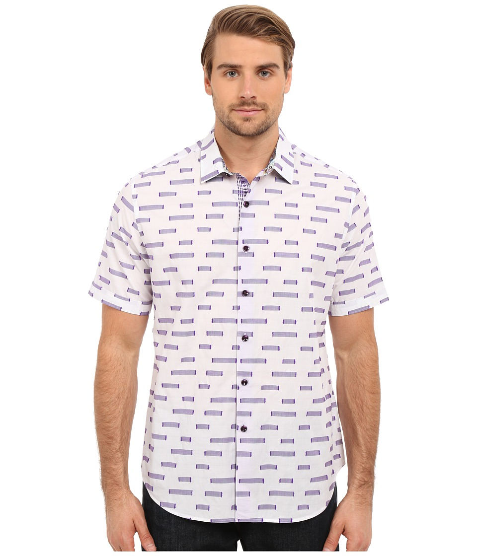 Robert Graham - Star Dunes Short Sleeve Woven Shirt (White) Men's Short Sleeve Pullover