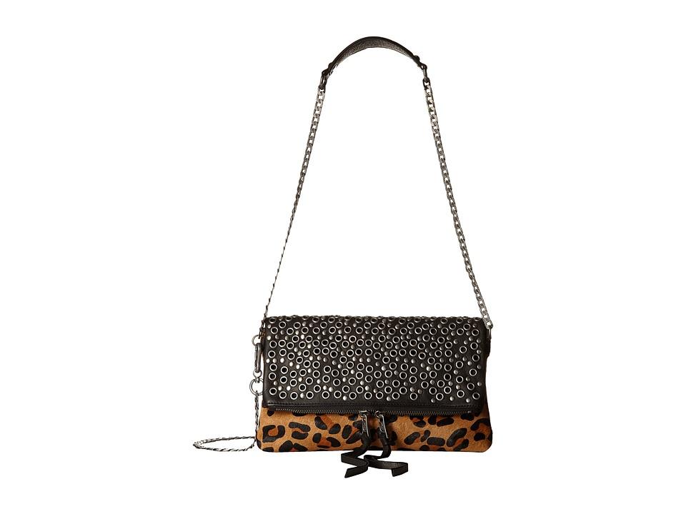 ASH - Ozzy Crossbody (Black/Leopard) Cross Body Handbags
