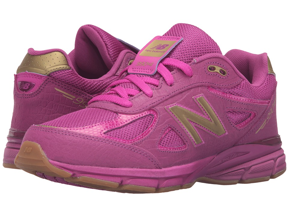 New Balance Kids - 990v4 (Big Kid) (Purple/Purple) Girls Shoes