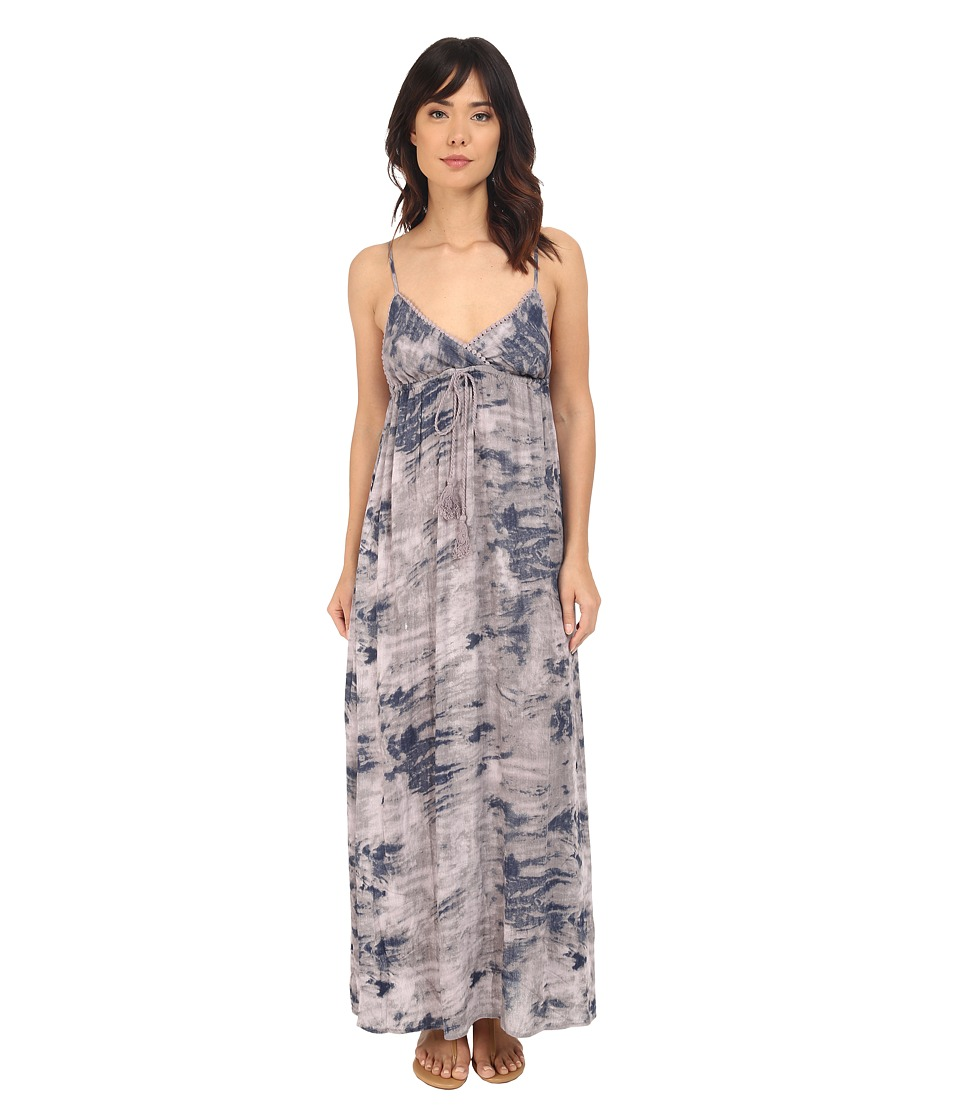 Brigitte Bailey - Reya Tie-Dye Maxi Dress (Charcoal) Women's Dress