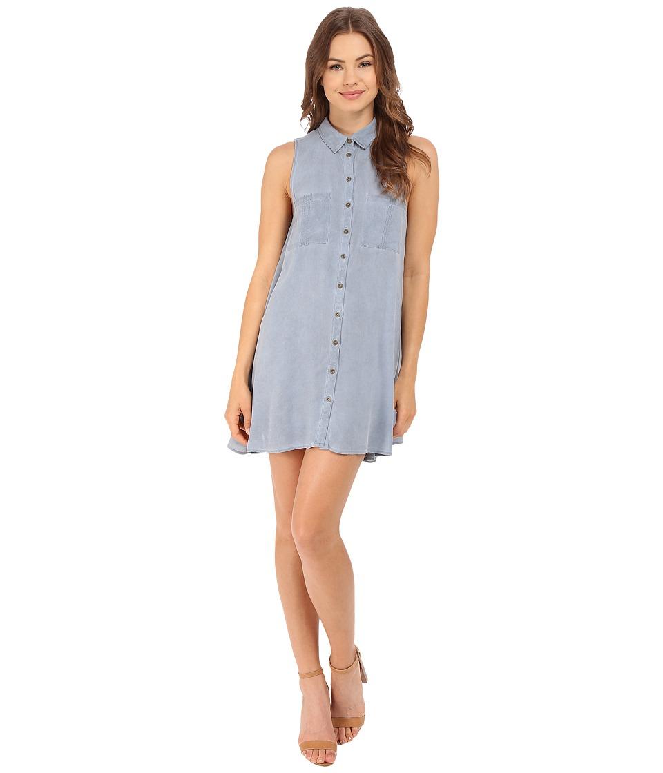 Brigitte Bailey - Embry Button Down Two-Pocket Dress (Light Blue) Women's Dress