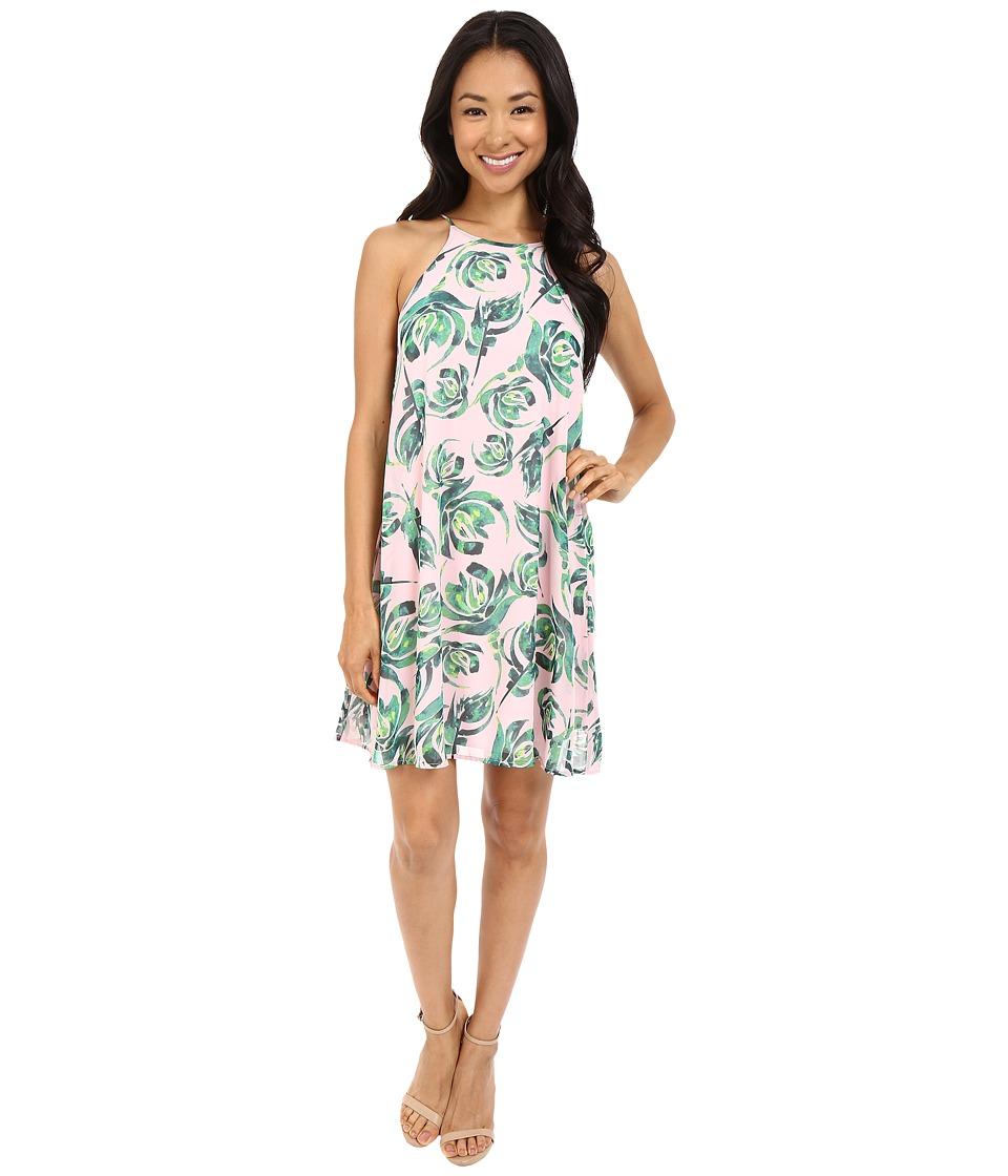Brigitte Bailey - Zunia Shift Swing Dress (Pink/Green) Women's Dress