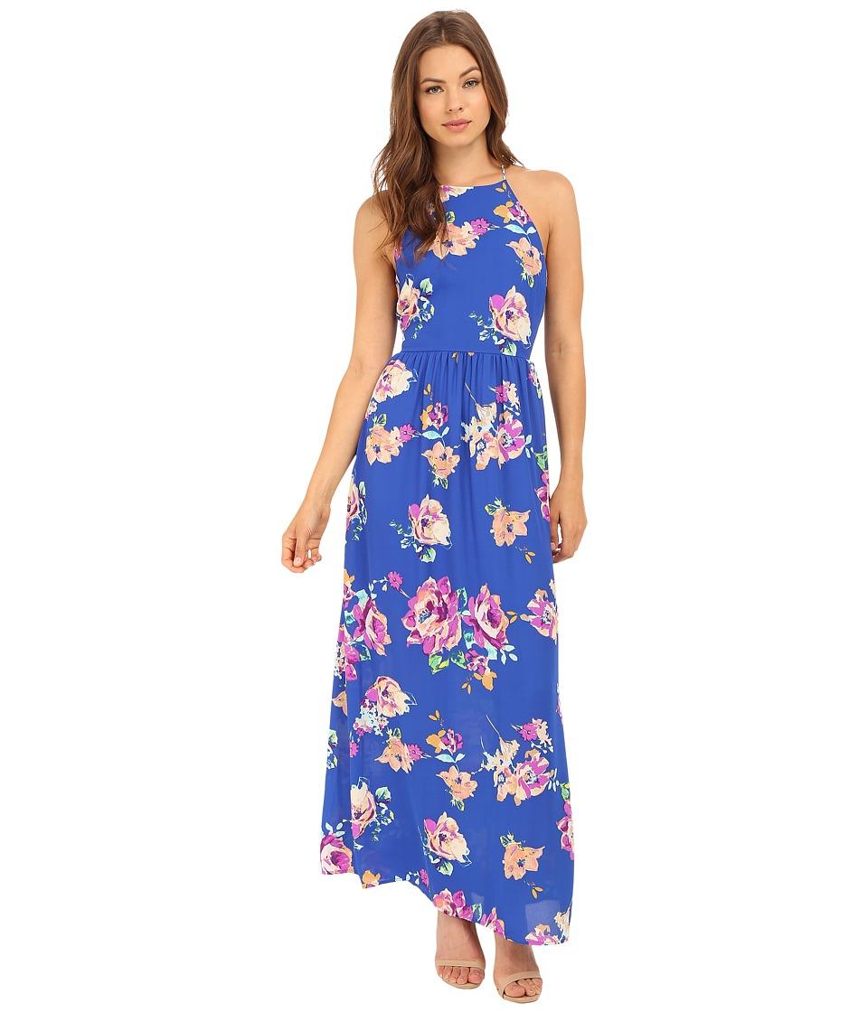 Brigitte Bailey - Kendra High Neck Maxi (Royal) Women's Dress