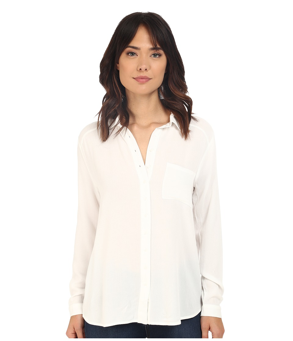 Brigitte Bailey - Illie Button Up Top with Pocket (White) Women's Clothing
