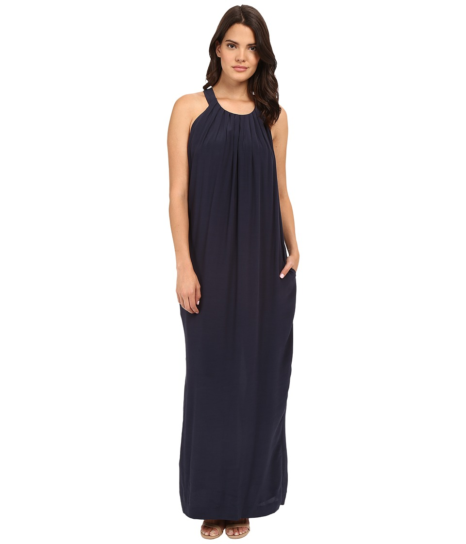Brigitte Bailey - Rayna Maxi Dress with Pleats (Navy) Women's Dress