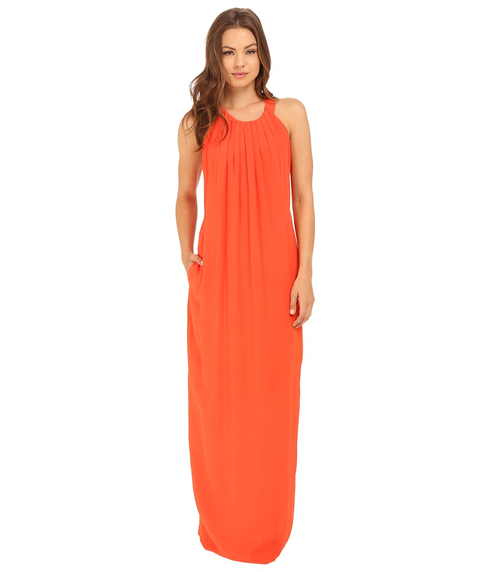 Brigitte Bailey - Rayna Maxi Dress with Pleats (Orange) Women's Dress