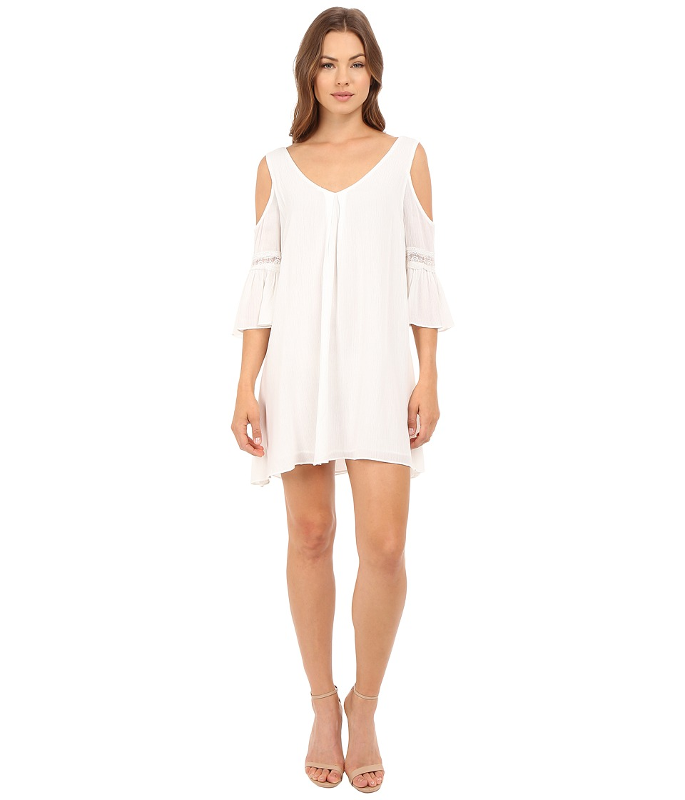 Brigitte Bailey - Analia Cold Shoulder Dress with Lace Detail (Cream) Women's Dress
