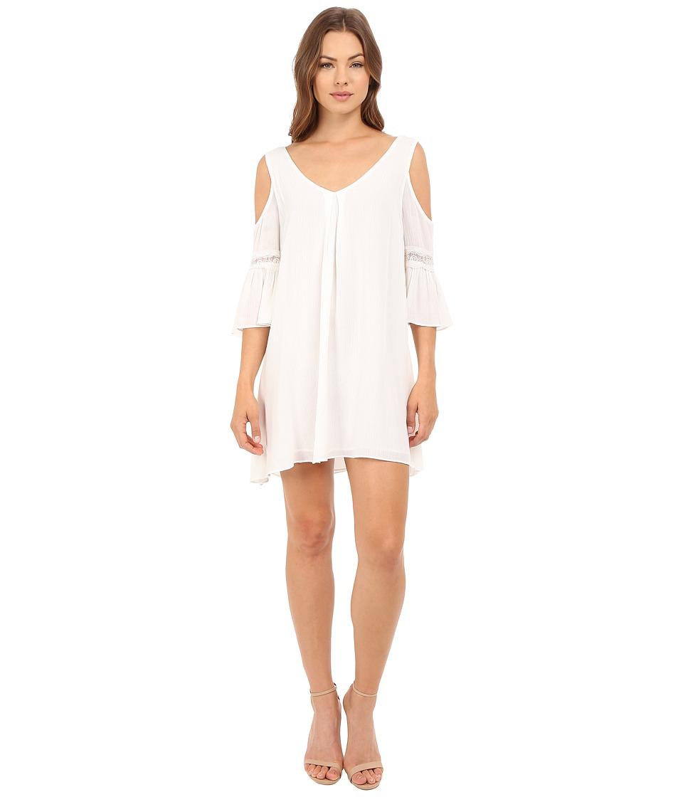 Brigitte Bailey - Analia Cold Shoulder Dress with Lace Detail (Cream) Women's Dress
