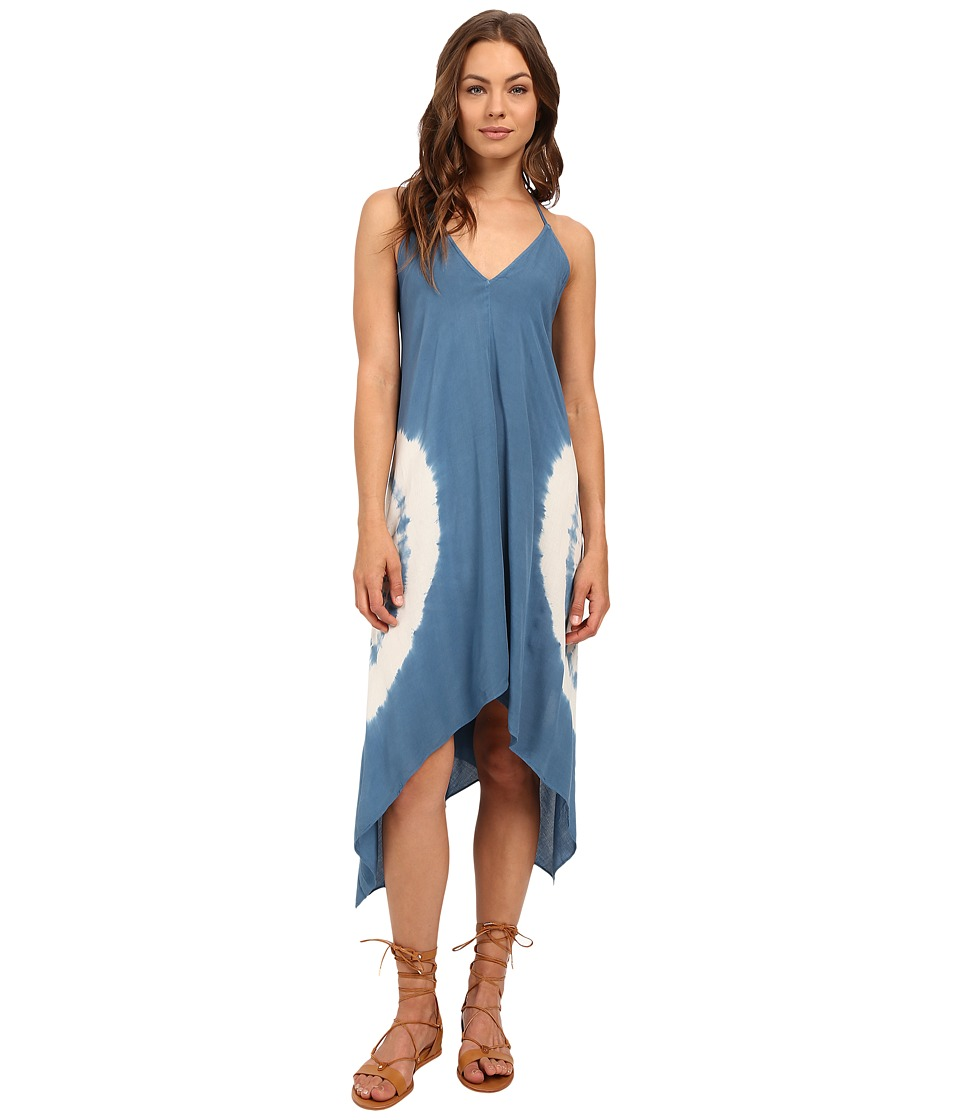Brigitte Bailey - Brea Tie-Dye Spaghetti Strap Dress (Blue/Off-White) Women's Dress