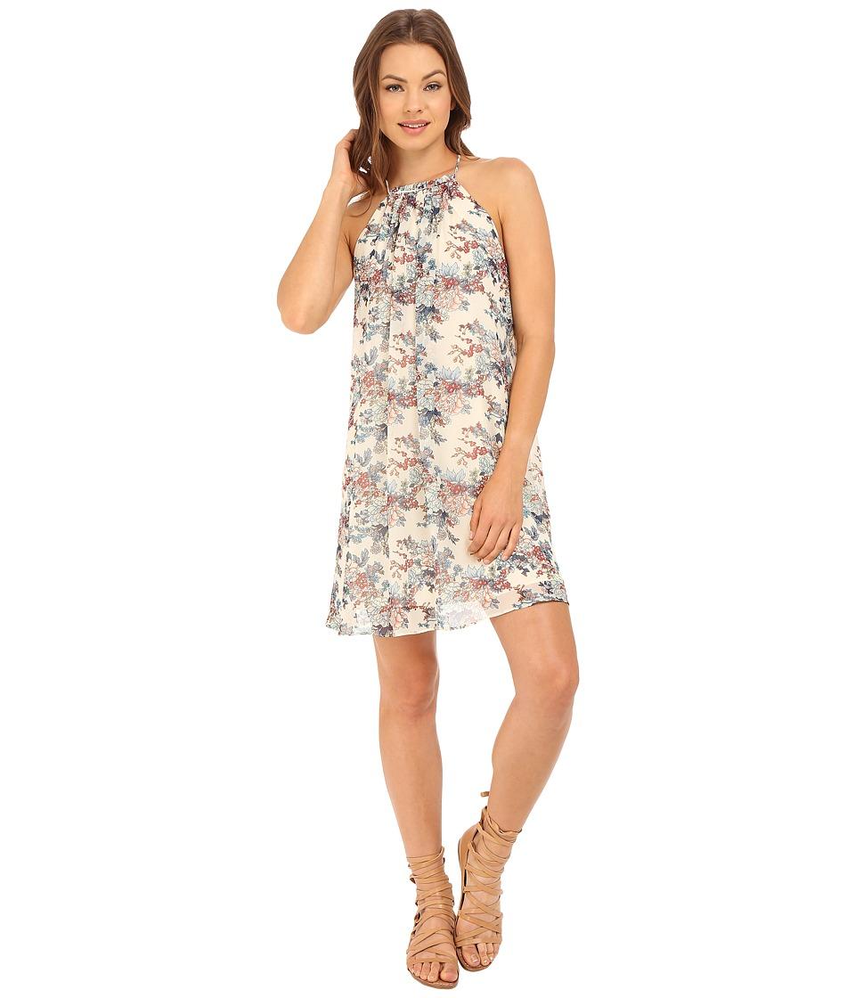 Brigitte Bailey - Saige Floral Print Open-Back Dress (Multi) Women's Dress