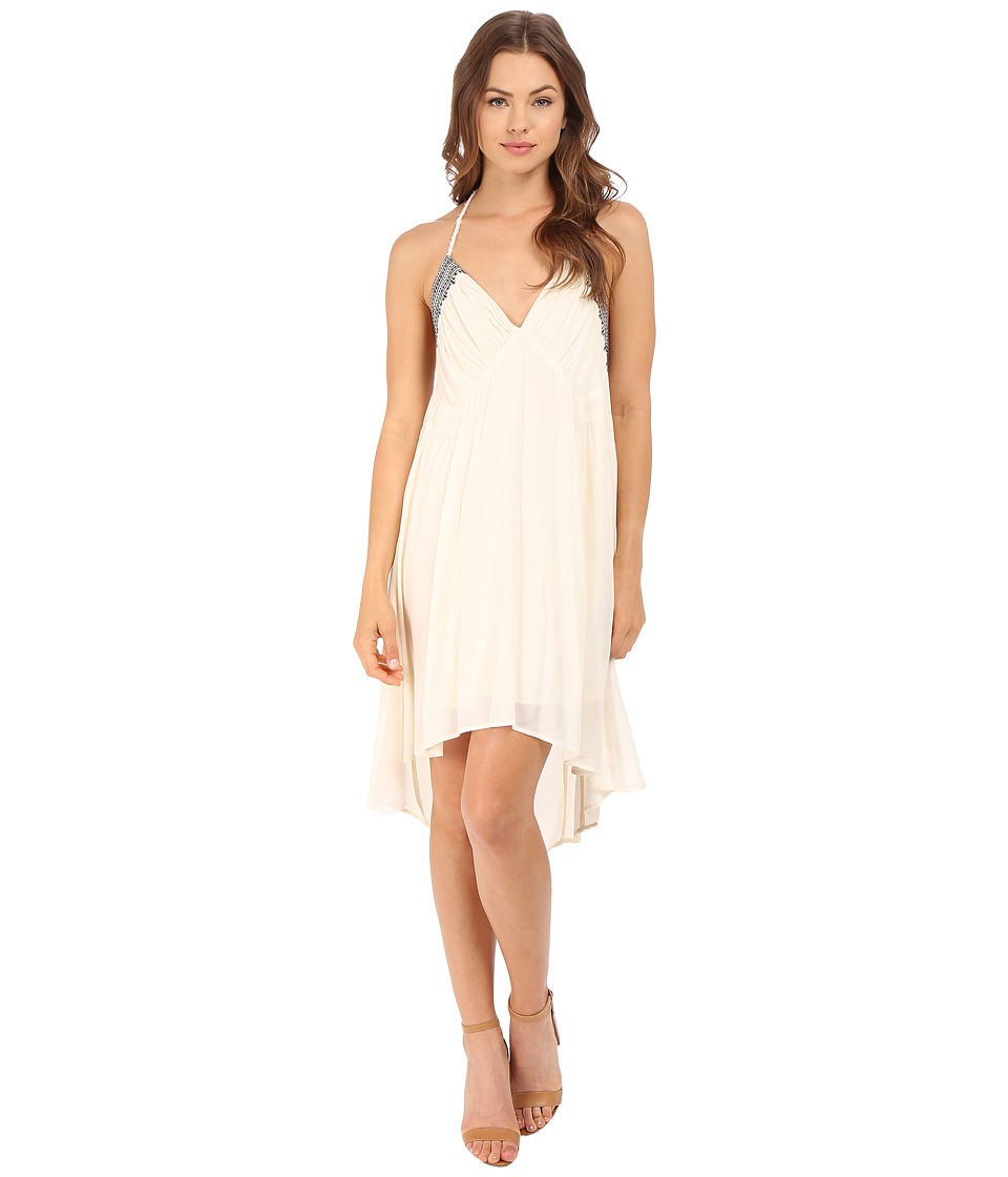 Brigitte Bailey - Britta Embroidered Boho Dress (Cream) Women's Dress