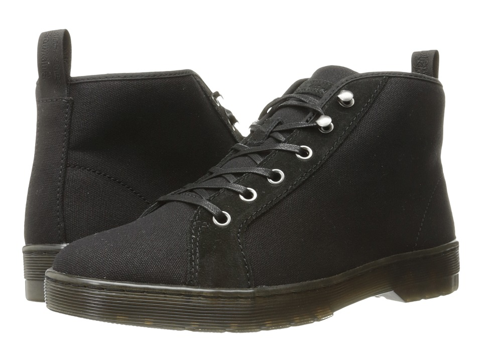 Dr. Martens Coburg 6-Eye Waxy Canvas LTT Boot (Black 12oz. Waxy Canvas/Hi Suede WP) Lace-up Boots