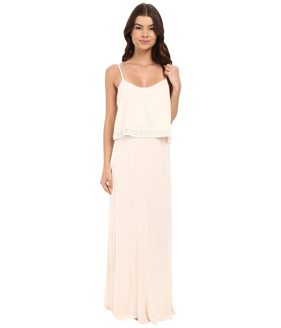 Brigitte Bailey - Lilith Maxi Dress with Lace Trim (Champagne) Women's Dress