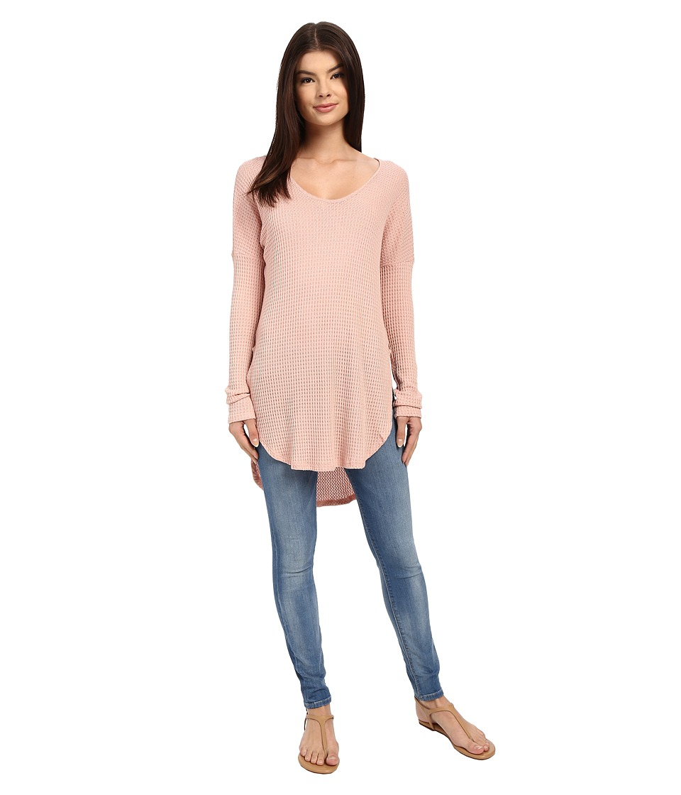Brigitte Bailey - Essie Long Sleeve Thermal Top (Light Pink) Women's Clothing