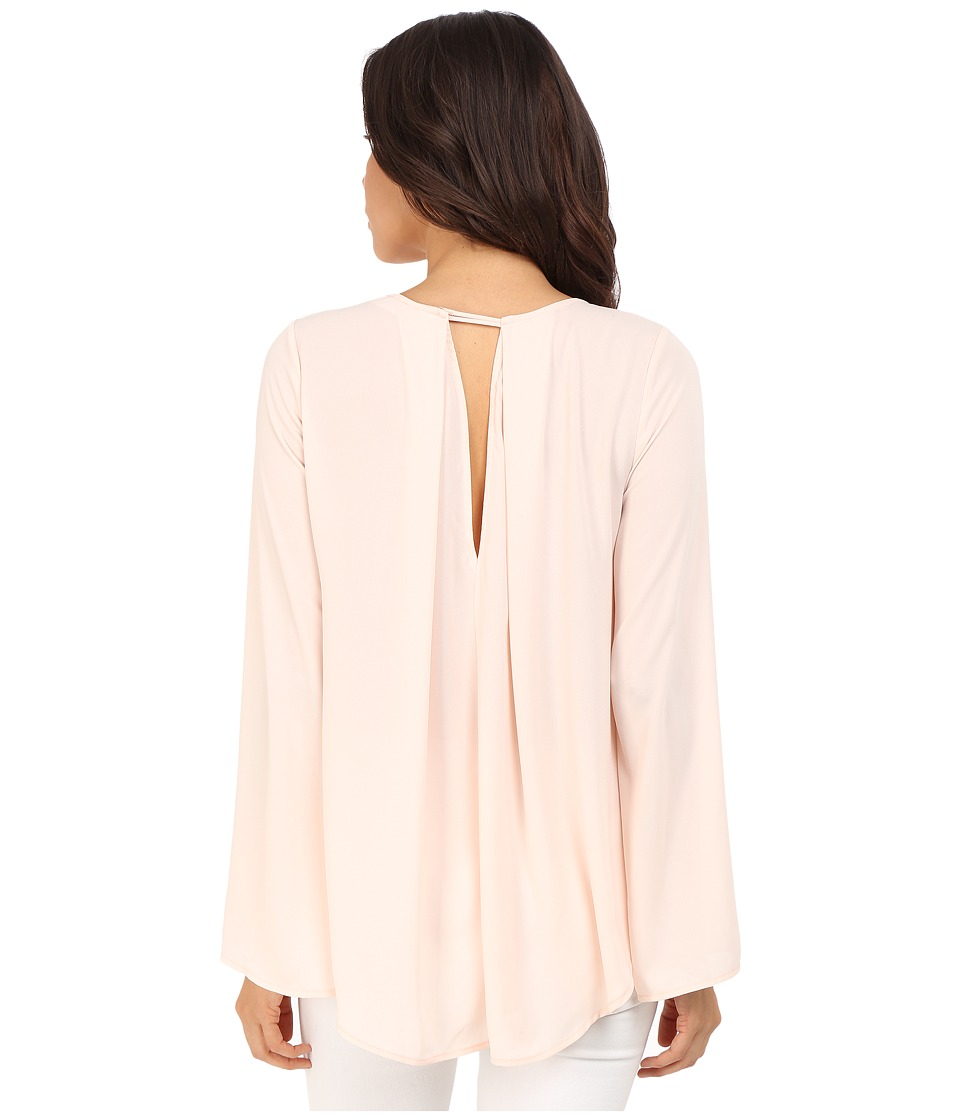 Brigitte Bailey - Emillie Bell Sleeve Top with Back Pleat (Baby Peach) Women's Blouse