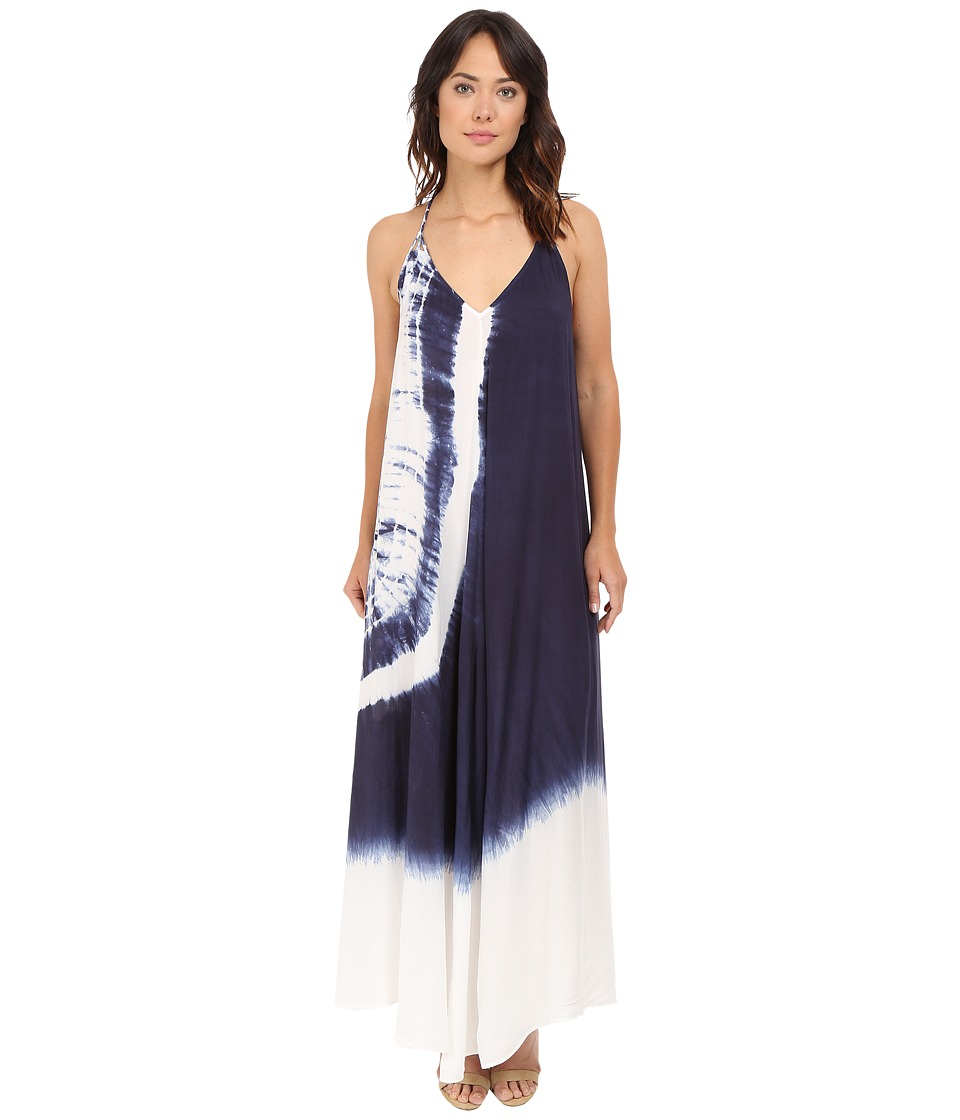 Brigitte Bailey - Elodie Spaghetti Strap Maxi Dress with Back Detail (Off-White/Navy) Women's Dress