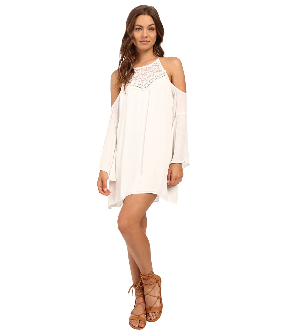 Brigitte Bailey - Elora Bell Sleeve Open Shoulder Dress (Cream) Women's Dress