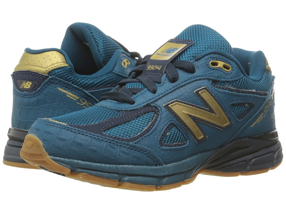 New Balance Kids - 990v4 (Big Kid) (Blue/Grey) Boys Shoes