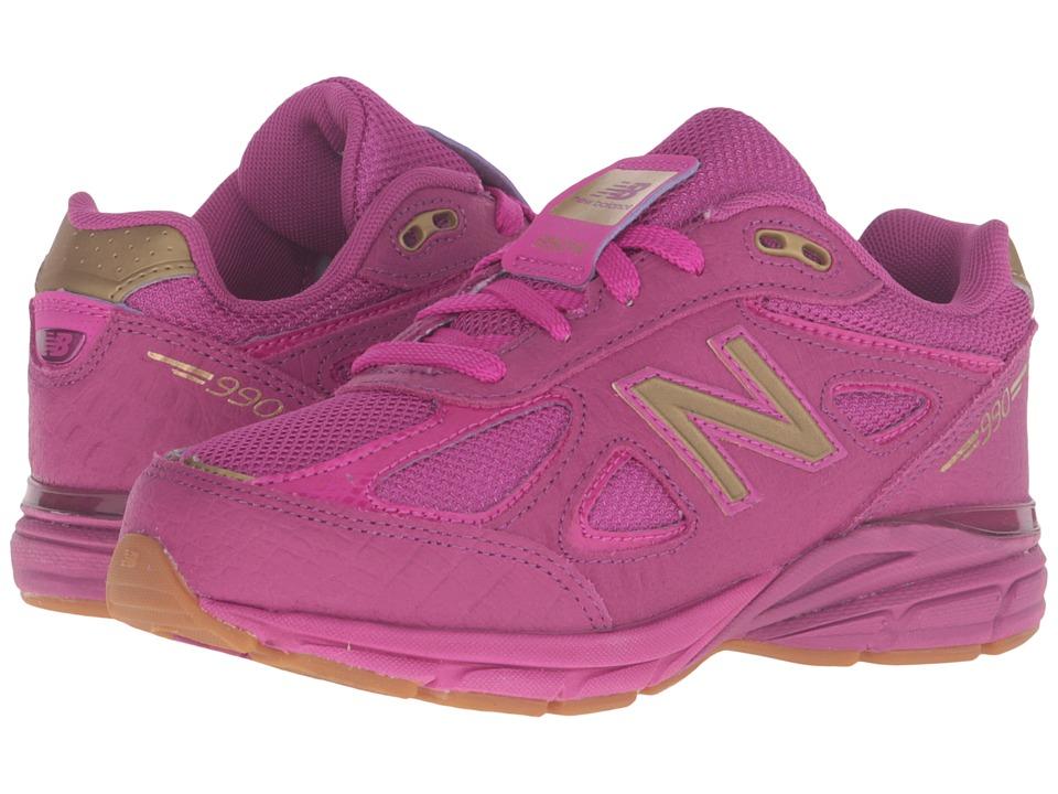 New Balance Kids 990v4 (Little Kid) (Purple/Purple) Girls Shoes