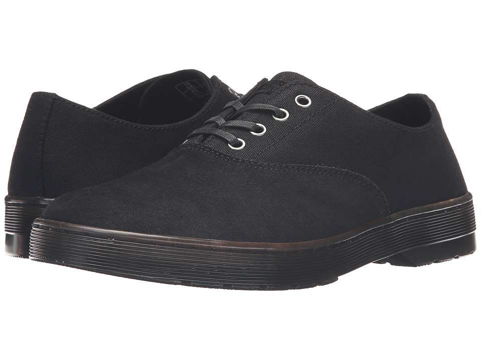 Dr. Martens - Lakewood 4-Eye Waxy Canvas Oxford Shoe (Black 12oz. Waxy Canvas/Hi Suede WP) Lace up casual Shoes