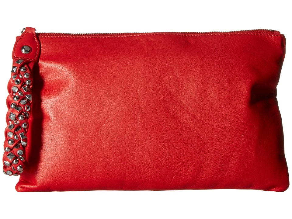 ASH - Janis Clutch (Red) Clutch Handbags