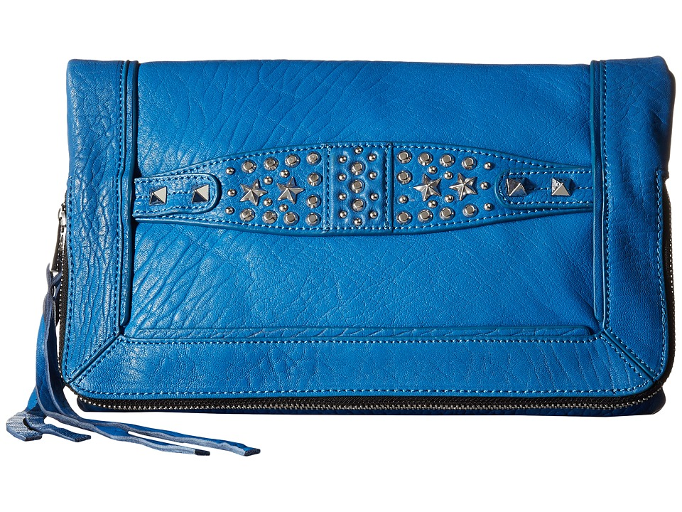 ASH - Jax Clutch (Azure Blue) Clutch Handbags