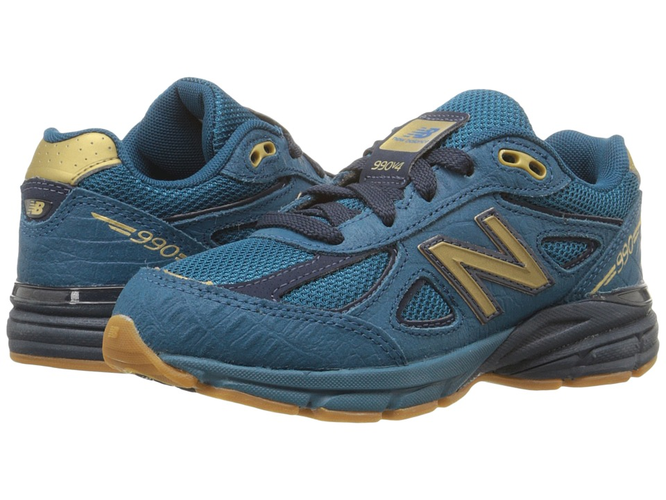 New Balance Kids 990v4 (Little Kid) (Blue/Grey) Boys Shoes
