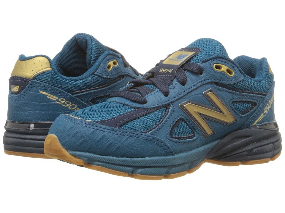 New Balance Kids - 990v4 (Little Kid) (Blue/Grey) Boys Shoes