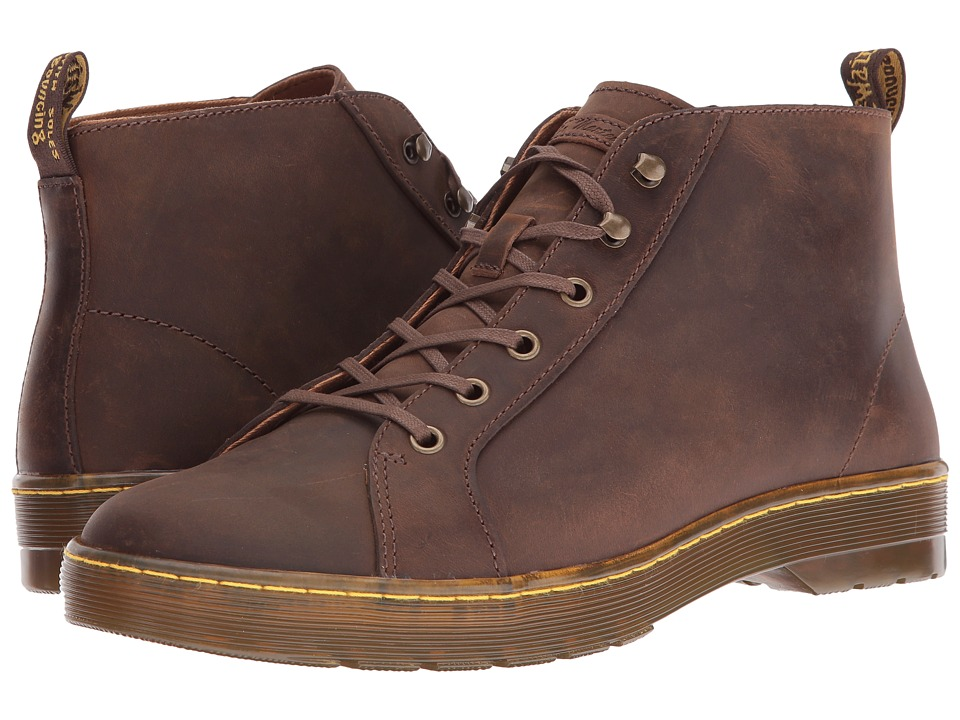 Dr. Martens - Coburg 6-Eye Leather LTT Boot (Gaucho Crazy Horse) Lace-up Boots