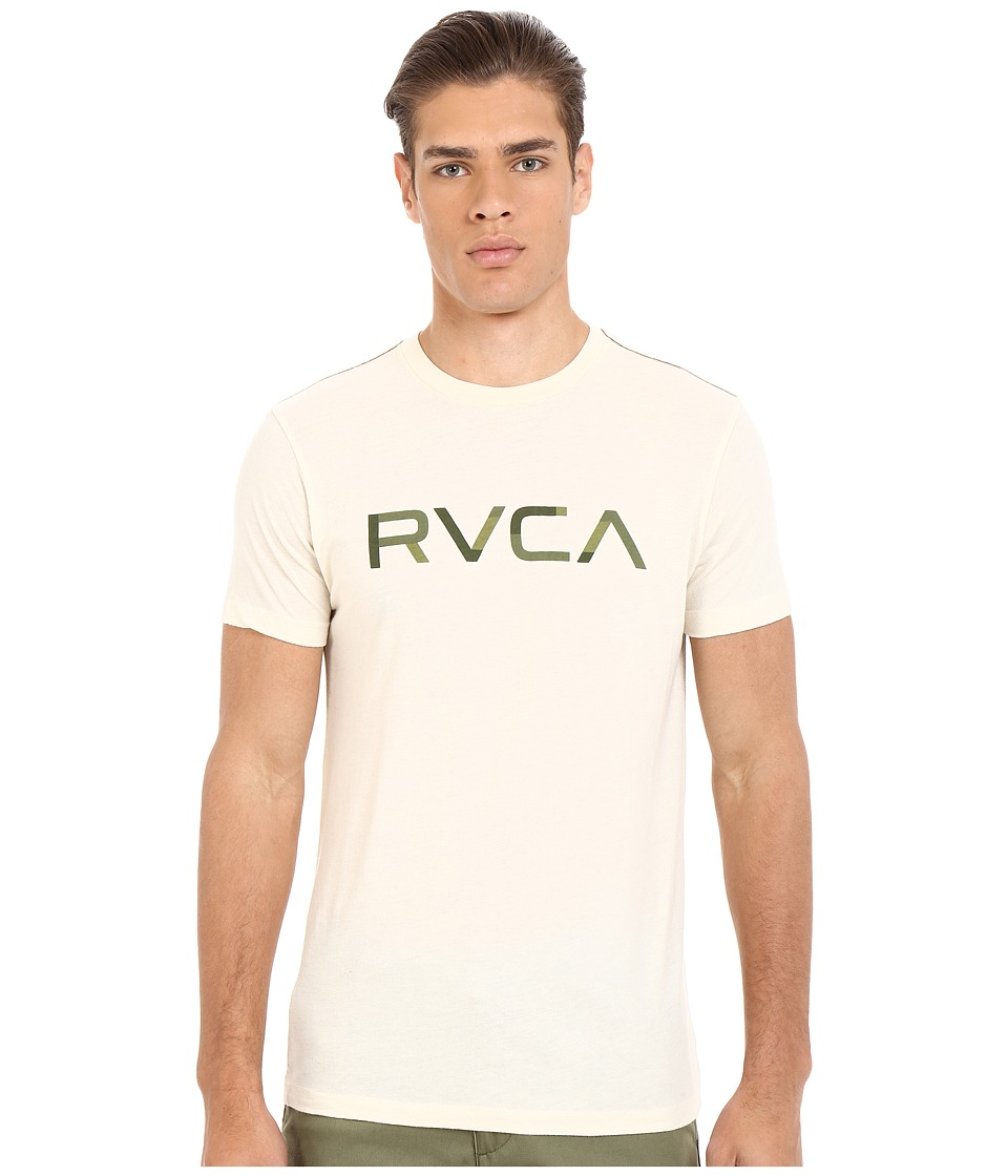 RVCA - Blocked RVCA Vintage Dye Tee (Almond Tea) Men