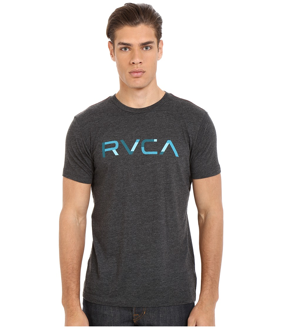 RVCA - Blocked RVCA Vintage Dye Tee (Black) Men