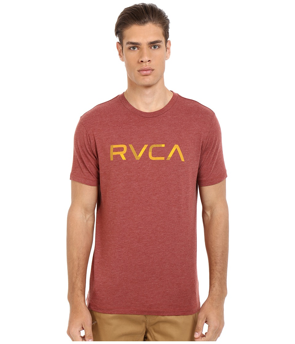 RVCA - Blocked RVCA Vintage Dye Tee (Brick Red) Men