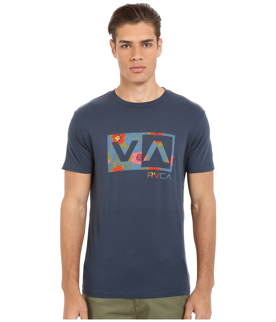 RVCA - Ashbury Balance Box Vintage Wash Tee (Midnight) Men's T Shirt