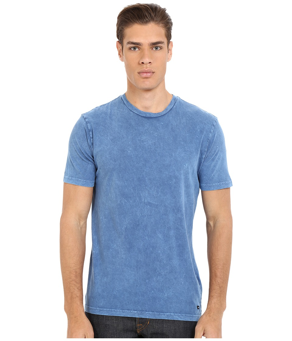RVCA - Label Mineral Wash Tee (Dark Blue) Men's T Shirt