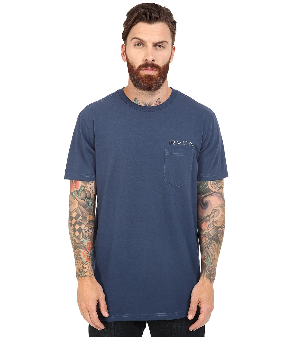 RVCA - Something Prolific Pocket Tee (Harbor Blue) Men's T Shirt