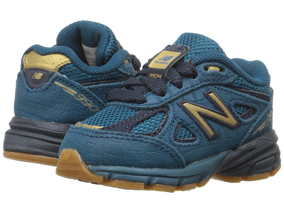 New Balance Kids - 990v4 (Infant/Toddler) (Blue/Grey) Boys Shoes