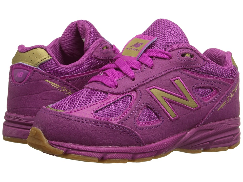 New Balance Kids 990v4 (Infant/Toddler) (Purple/Purple) Girls Shoes