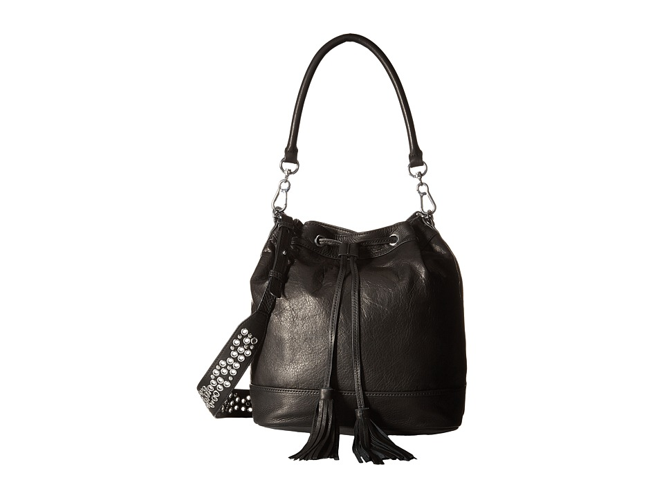 ASH - Ozzy Drawstring (Black) Cross Body Handbags