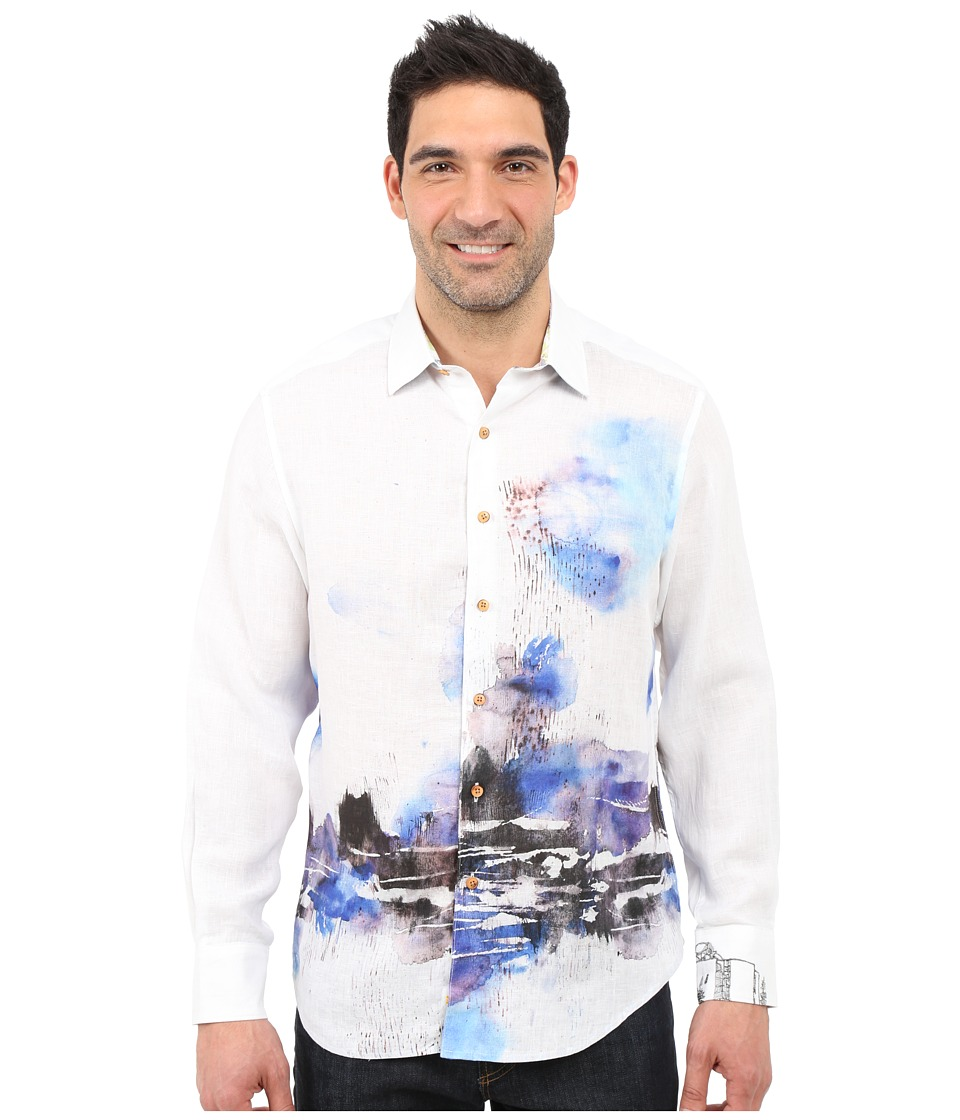 Robert Graham - The Gulf of Ade Sport Shirt (Blue) Men's Long Sleeve Button Up