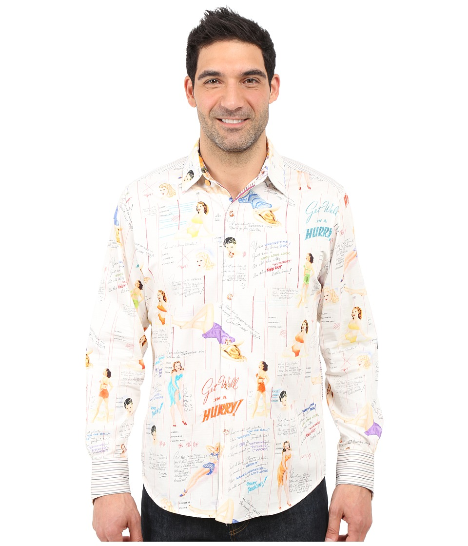 Robert Graham - Limited Edition Get Well Sport Shirt (Multi) Men's Long Sleeve Button Up
