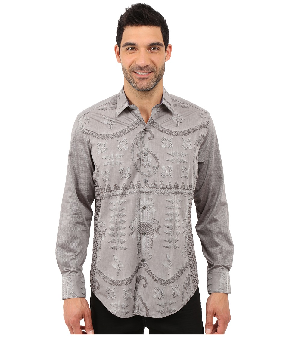 Robert Graham - Landmass Limited Edition Sport Shirt (Brown) Men's Long Sleeve Pullover