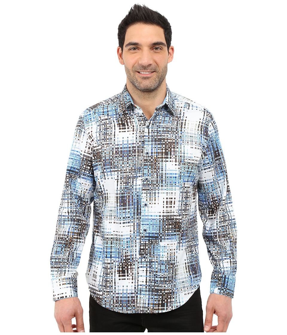 Robert Graham - Cape Sim Sport Shirt (Blue) Men's Long Sleeve Button Up