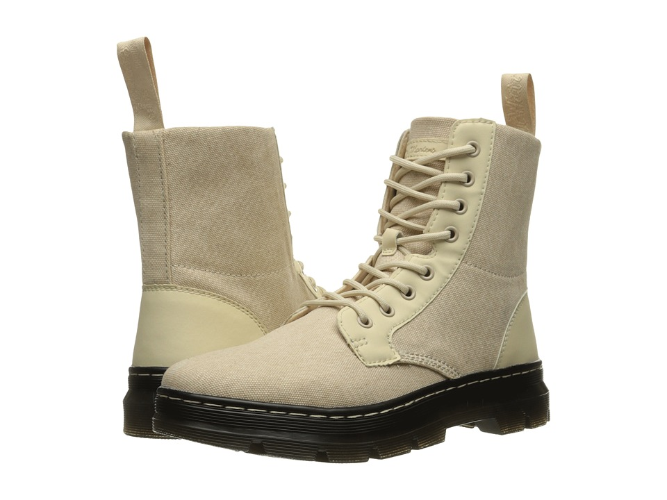 Dr. Martens Combs Fold Down Boot (Sand 16oz. Washed Canvas/Kanga) Boots
