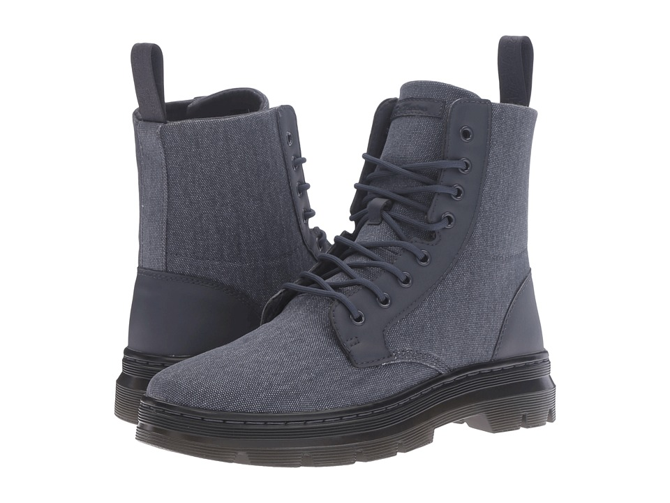 Dr. Martens - Combs Fold Down Boot (Graphite Grey 16oz. Washed Canvas/Kanga) Boots