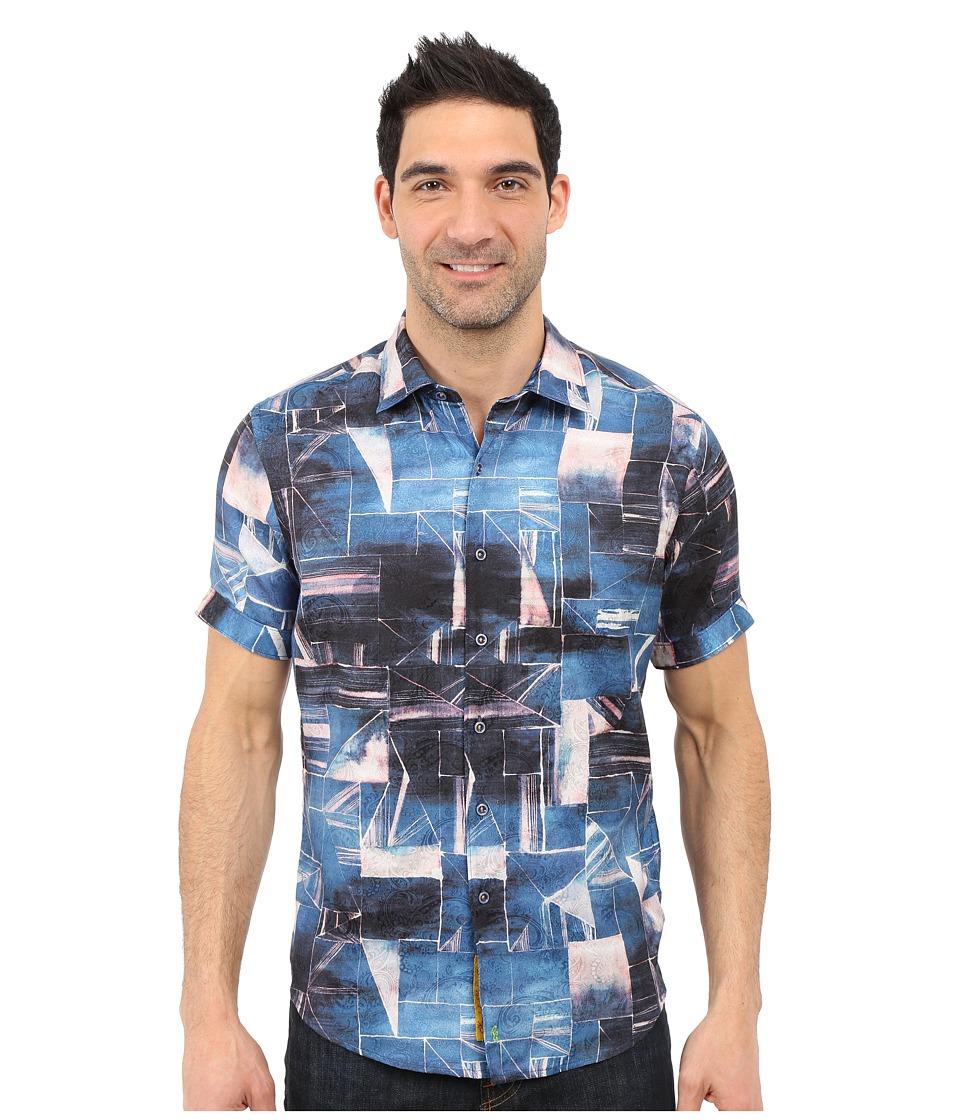 Robert Graham - Rocky Island Short Sleeve Shirt (Indigo) Men's Short Sleeve Button Up