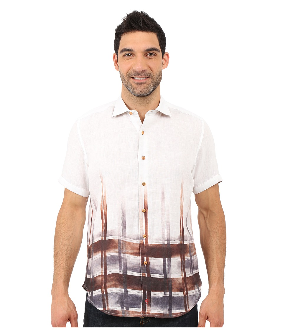 Robert Graham - Coves Short Sleeve Woven Shirt (Butterscotch) Men's Long Sleeve Button Up