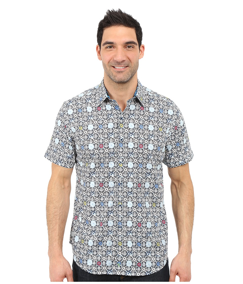 Robert Graham - Avenue Tawada Short Sleeve Shirt (White) Men's Short Sleeve Button Up