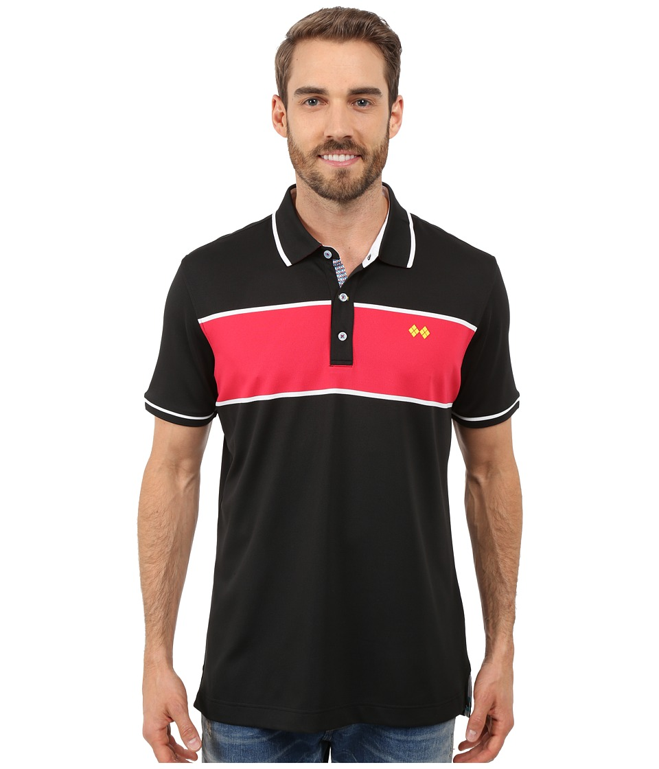 Robert Graham - Argento Polo (Black) Men's Short Sleeve Knit